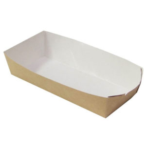 Poslužaonik kartonski za hot dog ECO HD 165x70x40 mm, Kraft (800 kom/pak)