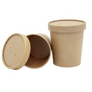Posuda papirnata za supu Tambien ECO 340 ml d-70 mm, h-85 mm, Kraft (25 kom/pak)