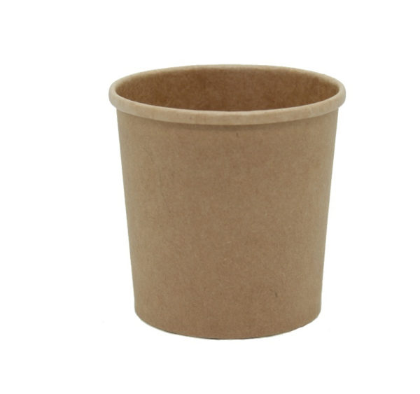 Kartonska posuda za supu sa poklopcem Tambien ECO 340 ml d=90 mm h=85 mm kraft 25 kom (komplet)