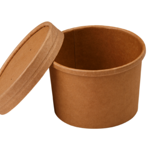 Posuda papirnata za supuTambien ECO 240 ml d-90mm, h-60mm, kraft (25 kom/pak)
