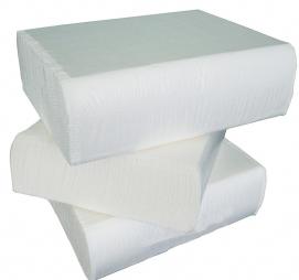 Papirni ubrusi 2-sl Z presavijeni 200 L/pak Tomos bijeli (komplet)