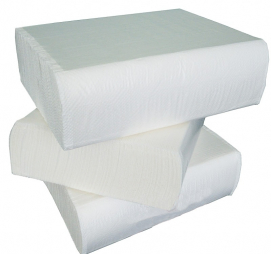 Papirni ubrusi 2-sl V presavijeni 200 L/pak Tomos bijeli (komplet)