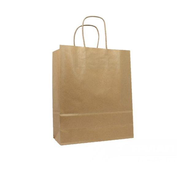 Papirna kesa sa savijanim ručkama 260х150х300 mm kraft (250 kom/pak)