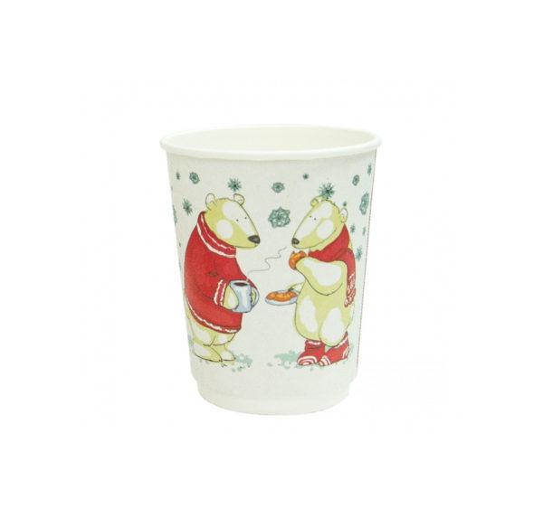 Papirna čaša 2-sl 250 ml d=90 mm Bijeli Medvjed