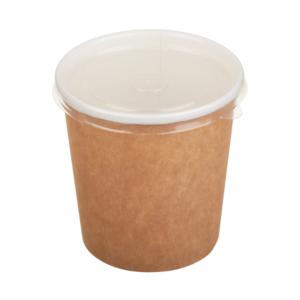 Kartonska posuda za supu 500 ml d=90 mm h=99 mm kraft (50 kom/pak)