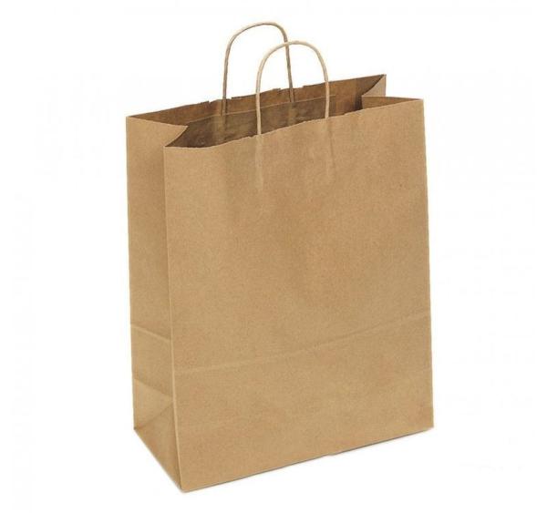 Papirna kesa sa uvijenim ručkama 320x180x430 mm kraft (150 kom/pak)