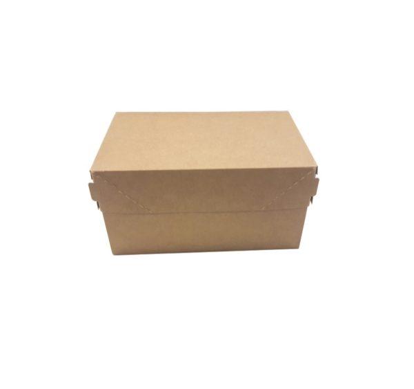Kartonska kutija za tortu, desert ECO CAKE 1200 ml 150x100x85 mm kraft (250 kom/pak)