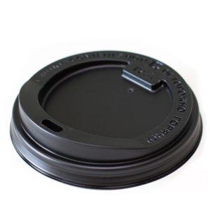 Poklopac sa bočnim otvorom PS d=90 mm crni (100 kom/pak)