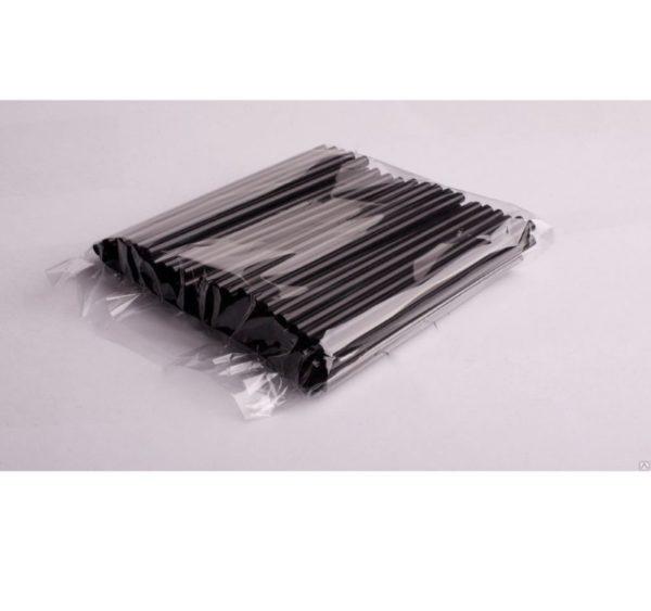 Ravne slamčice za koktel 210×8 mm crne 250 kom/pak