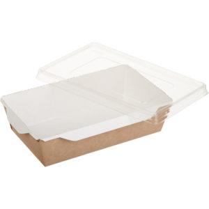 Kartonska posuda za salate i topla jela sa providnim poklopcem ECO OpSalad 800 ml 186х106х55 mm kraft (200 kom/pak)
