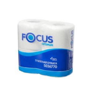 Toaletni papir 2-sl Focus Optimum beli (4 rol/pak)