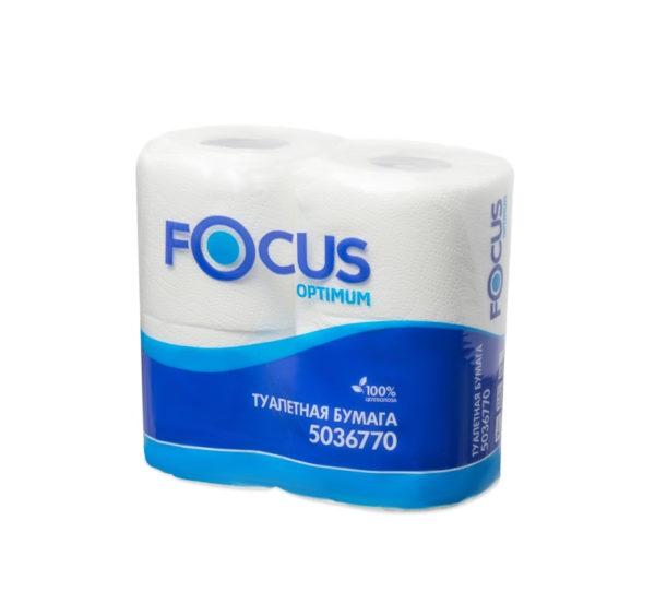 Toaletni papir 2-sl Focus Optimum bijeli (4 rol/pak)