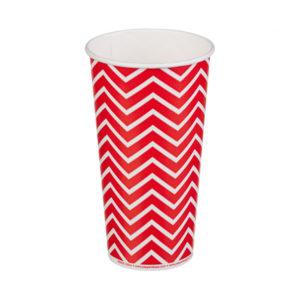 Čaša papirnata jednoslojna 500 (650) ml d=90mm za hladna pića Lollipop (50 kom/pak)