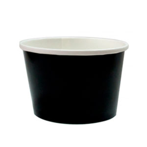 Papirnata posuda, 500 ml, d = 98 mm, h = 99 mm, crna, za vruče (50 kom/pak)
