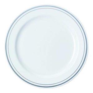 Poslužaonik/tanjir s srebrno obrobo PS d=19 cm (120 kom/pak)