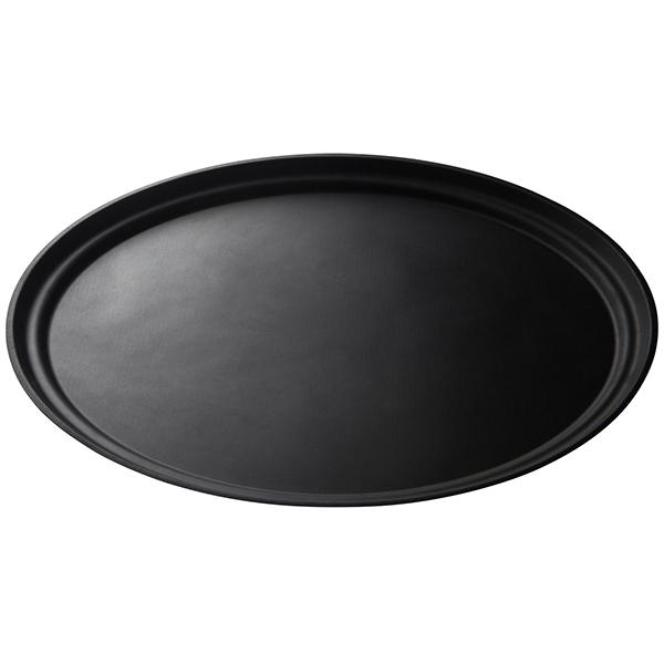 Poslužaonik oval PET Gold Plast 330×240 mm crni (5 kom/pak)