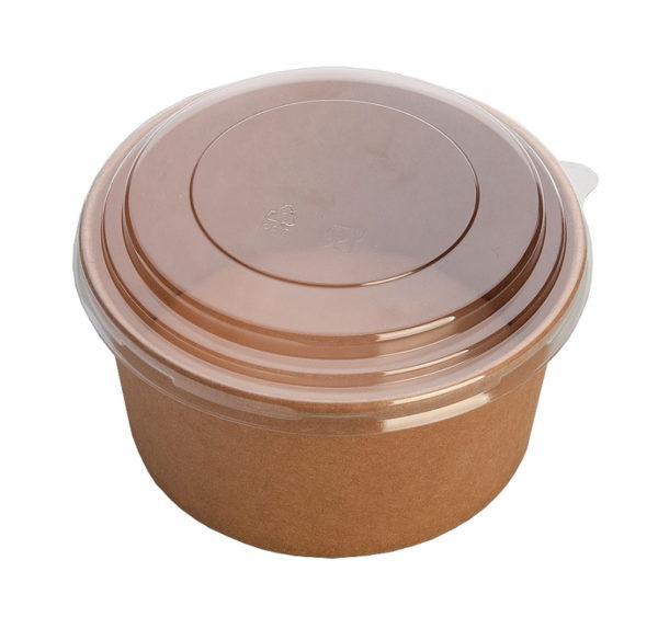 "Kartonska kutija sa poklopcem ECO Rcont ""Pure kraft"" 620 ml d=150 mm h=45 mm (240 kom/pak)"