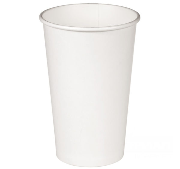 Papirna čaša 1-sl 400 ml d=90 mm bijela (18 kom/pak)