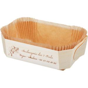 Posoda za peko lesena za enkratno uporabo DUC 175x110x60 mm (100 kom/pak)