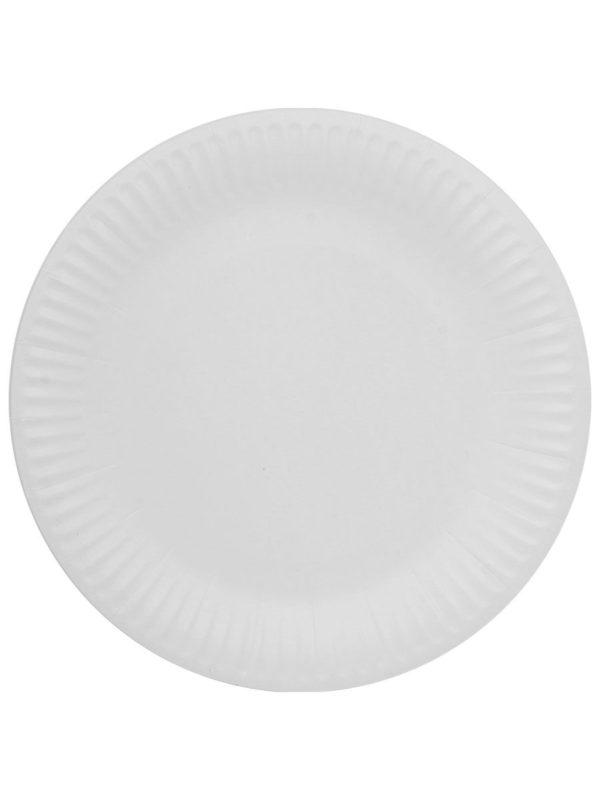 Tanjir kartonski d=230 mm Snack Plate, bijeli laminiran (100 kom/pak)
