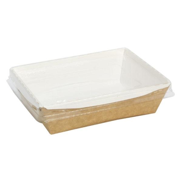 Kartonska kutija sa providnim poklopcem Crystal Box 400 ml 140x100x45 mm kraft (250 kom/pak)
