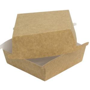 Kutija za burger Combi box 120x120x70mm kraft (50 kom/pak)