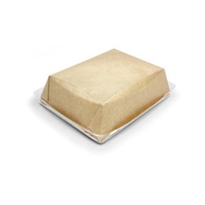 Kartonska kutija sa providnim poklopcem Crysatal Box 800 ml 180х140х45 mm kraft (40 kom/pak)