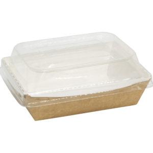Posuda papirnata Crystal Box 500 ml sa poklopcem kupola 160x120x45 mm, Kraft