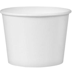 Kartonska posuda 245 ml d=93 mm h=55 mm bijela (25 kom/pak)