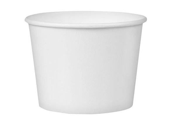 Kartonska posuda sa poklopcem 245 ml d=93 mm h=55 mm bijela 50 kom (komplet)