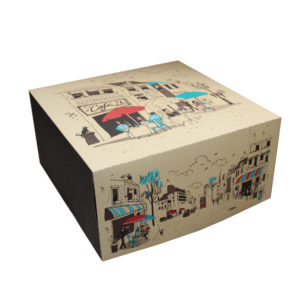 Kutija za tortu 2 kg 300х300 mm Randevu – poklopac (100 kom/pak)