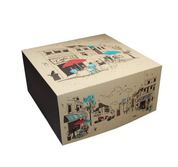 Kutija za tortu 2 kg 300х300 mm Randevu (dno+poklopac) 100 kom