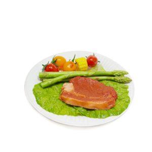 Papirnati tanjir d = 180 mm Snack Plate, beli biolaminiran