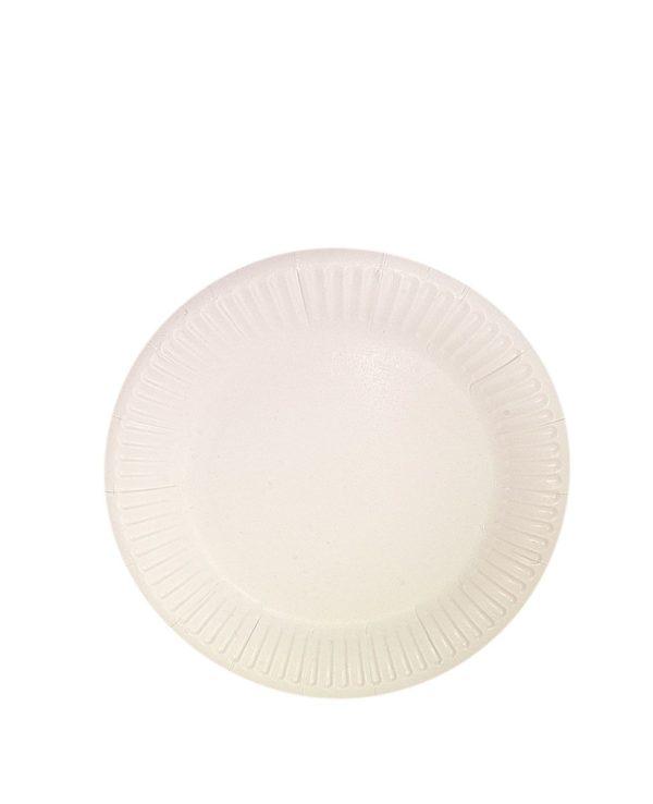 Tanjir kartonski d=180 mm Snack Plate, bijeli biolaminiran (100 kom/pak)