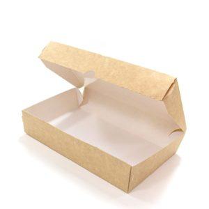 Kartonska kutija Meal Box 1000 ml 200x120x40 mm, kraft (50 kom/pak)