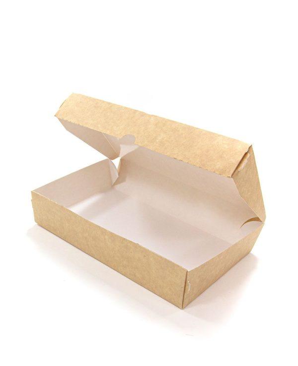 Kutija od papira Meal Box 1000 ml 200x120x40 mm, Kraft (50 kom/pak)
