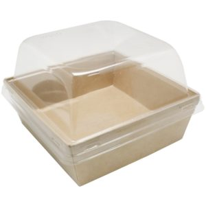 Kutija za salatu, burger ECO Prizma 550ml 128x128x50 mm, Kraft (50 kom/pak)
