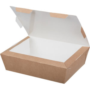 Kartonska kutija za ručak Lunch2Go 600 ml 150x115x50 mm kraft (90 kom/pak)