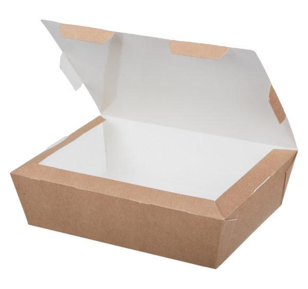 Kartonska kutija za ručak Lunch2Go 600 ml 150x115x50 mm kraft (90 kom/pak)