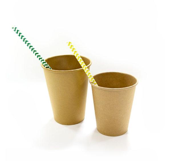 Papirna čaša 1-sl 250 ml d=80 mm puni kraft (50 kom/pak)