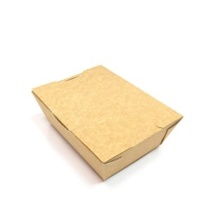 Kartonska posuda Lunch2Go 600 ml 150x115x50 mm kraft (90 kom/pak)