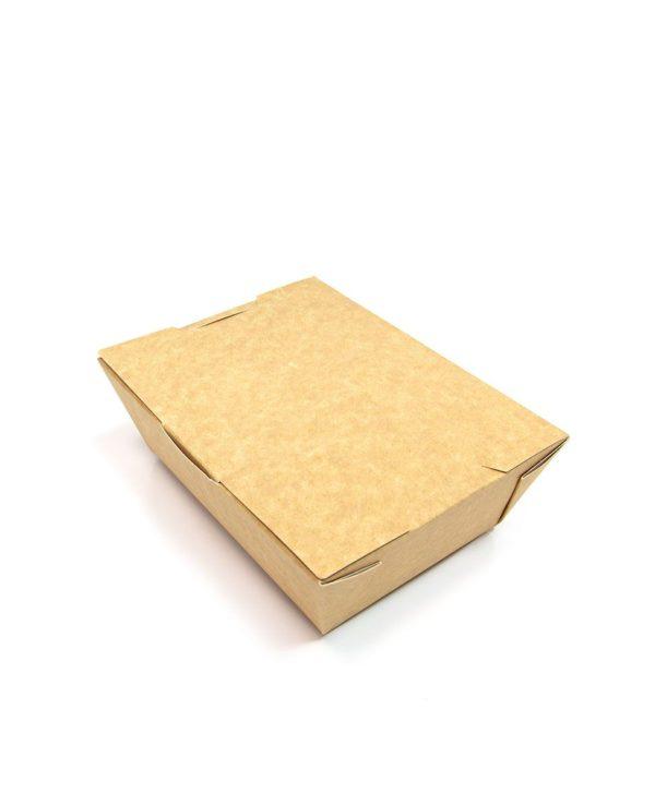 Posoda papirnata (lunch box) Lunch2Go 600 ml 150x115x50 mm, Kraft (90 kom/pak)
