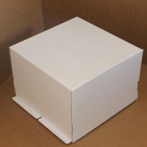 Kutija za tortu (poklopac) 420x420x290 mm karton, bijela