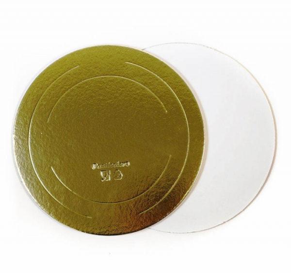Podmetač od kartona d=220 mm zlato/bijele bisere 3,2 mm (10 kom/pak)