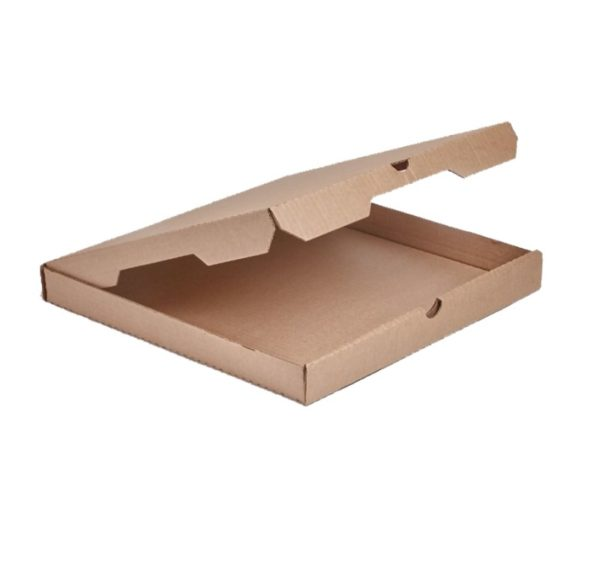 Kutija za picu 400x400x40 mm valovit karton kraft (50 kom/pak)