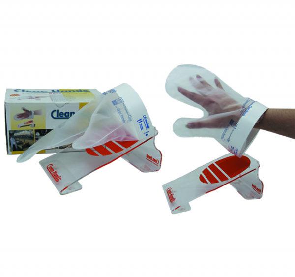 Set jednokratnih rukavic s magnetnim držačem (1 držač, 1 manžeta, 4 rukavice)