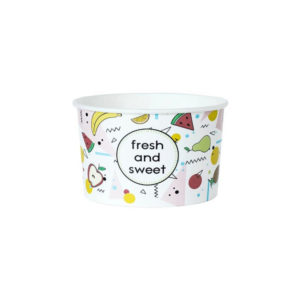 Kartonska posuda  130 ml d=75 mm, h=47 mm Fresh&Sweet (25 kom/pak)