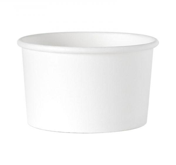 Kartonska posuda  245 ml d=93 mm, h=55 mm bijela (25 kom/pak)
