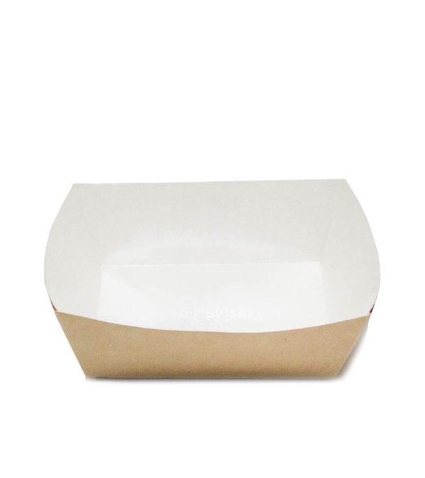 Papirnat pladenj ECO TRAY, 550 ml, 110х110х42 mm kraft (300 kom/pak)