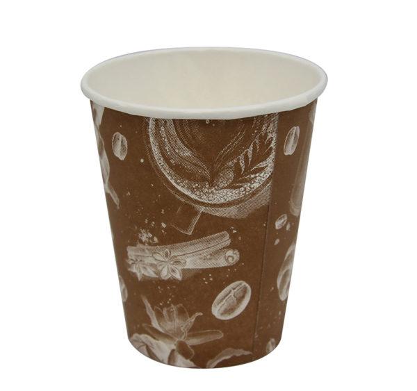 """Čaša papirnata jednoslojna 250 / 280 ml, d = 80 mm, """"Barista"""" Cappuccino (50 kom/pak)"""
